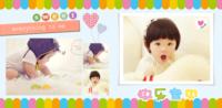 快乐宝贝的彩色童年 美好记忆(彩色时尚清新大容量)9201716-缤纷系列照片书