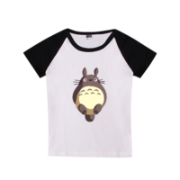 可爱卡通动漫龙猫时尚童装插肩T恤
