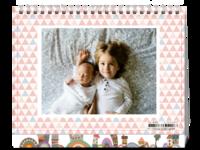 宝贝一起成长的时光-爱喵咪的宝宝-等风也等你的美好生活-8寸单面印刷台历