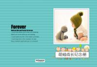 萌娃成长纪念册-照片可替换-8x12高清绒面锁线40P
