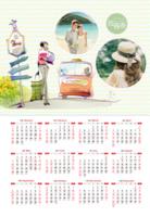 爱情,旅行,个人写真年历,照片可替换-A3年历