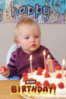 生日快乐宝贝(装饰可移动、图片可换)-24寸竖式海报