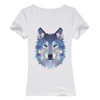 狼--缤纷一夏母版-女款精梳棉圆领T恤
