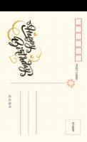清新时尚 生日快乐 生日纪念-18张全景明信片(竖款)
