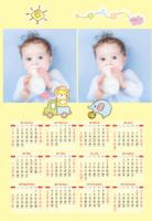 BABY(宝宝、宝贝、亲子、可爱、卡通、通用)-A3年历