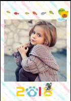 快乐的童年-B2单月竖款挂历