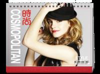 时尚COSMOPOLITAN-潮流写真(点击图层里的眼睛选择不同的主题颜色)-8寸单面印刷跨年台历