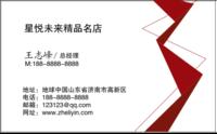 名片 创意大气简约时尚简洁高档商务企业个性 红色白色-高档双面定制横款名片
