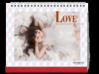 LOVE 简洁 儿童生活写真集 内页精心设计 图文可替换-10寸单面印刷台历