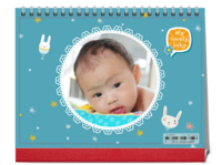 My lovely baby-8寸单面印刷跨年台历