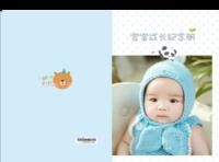 宝宝成长纪念册-A4硬壳照片书34p