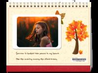 秋的童话-8寸横款单月双面台历(7页)