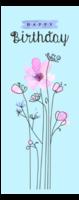 水彩手绘花朵插画-定制单面书签