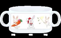 小兔子小搪瓷杯-白杯
