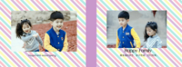 happy family-8x12横款硬壳对裱照片书32p