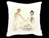 相爱永久(图片可换、装饰可移动)-短皮绒面双面抱枕