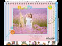 成长的幸福(可爱卡通、页内外照片可替换)-8寸单面印刷台历
