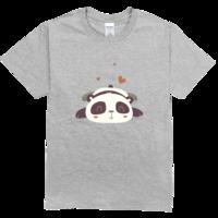 可爱的熊猫高档彩色T恤