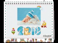 2018卡通-8寸双面印刷台历