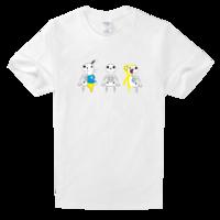 小小骨头舒适白色T恤