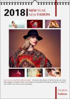 NEW FASION 新时尚(个人写真桌面台历) 高档原创欧美经典精品自由DIY-A3竖款单月单面对裱挂历