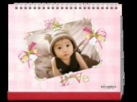 粉色系 可爱的小萌娃 花一样的你 宝宝成长记录-10寸照片台历