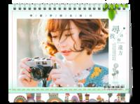 寻找诗和远方(页内外照片可替换)-8寸双面印刷台历
