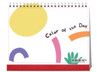 color of the day 彩色时光-8寸单面印刷跨年台历