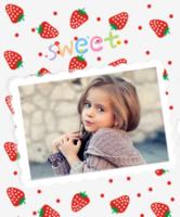 甜心草莓-定制照片卡