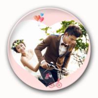 浪漫的爱-创意镜子钥匙扣