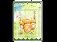 超精美金色童年(封面小熊可换成照片)-亲子-可爱宝贝成长纪念册-卡通珍藏周岁生日留念-犇-A4时尚杂志册(24p)