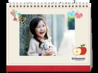 致童年-8寸双月单面印刷台历(7页)