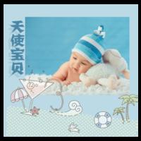 天使宝贝-8x8单面水晶印刷照片书30p