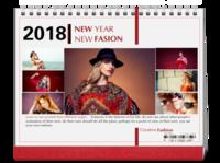 NEW FASION 新时尚(个人写真桌面台历) 高档原创欧美经典精品自由DIY-8寸单面印刷跨年台历