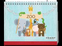 萌宠动物园(素年亲子宝宝童年)-8寸双面印刷跨年台历