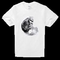 创意月球舒适白色T恤