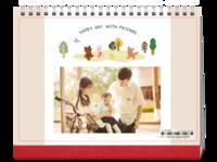 快乐每一天-韩版卡通宝宝儿童-8寸双面印刷跨年台历
