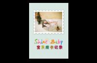 宝贝成长记录#-8x12印刷单面水晶照片书21p