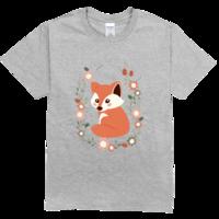 小狐狸舒适彩色T恤