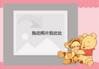 可爱维尼小熊-彩边拍立得横款(6张P)
