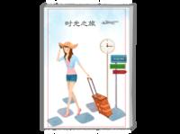 拾光之旅(封面人物可替换)-A4时尚杂志册(24p)