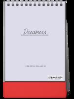 Dreamers追逐梦想勇敢前行-图文可改-时尚极简风-8寸竖款单面台历