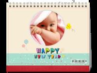 新年快乐宝贝、儿童-8寸单面印刷跨年台历