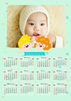 健康快乐的宝贝-A3章鱼贴竖款年历