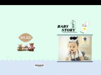 宝宝故事 萌娃 亲子 照片可替换-8x12对裱特种纸30p套装