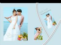 与爱相随(清新大气、婚纱、婚庆、爱情写真)-精装硬壳照片书60p