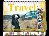 旅行日记-最好的自己在路上(摄影写真纪念册)-8寸单面印刷台历