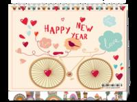可爱童真 快乐单车-8寸双面印刷台历