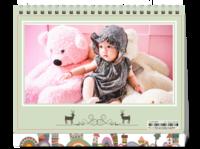 萌娃-亲子-照片可替换-8寸双面印刷台历