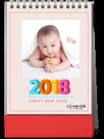 2018卡通、儿童-8寸竖款单面台历